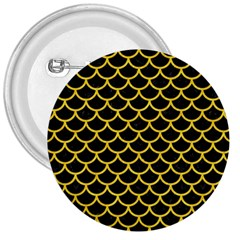 Scales1 Black Marble & Yellow Colored Pencil (r) 3  Buttons