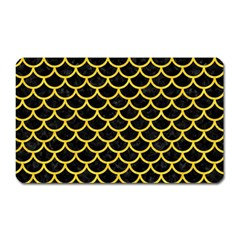 Scales1 Black Marble & Yellow Colored Pencil (r) Magnet (rectangular)