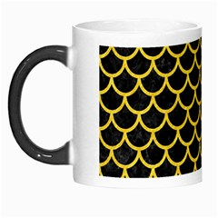 Scales1 Black Marble & Yellow Colored Pencil (r) Morph Mugs
