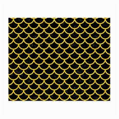 Scales1 Black Marble & Yellow Colored Pencil (r) Small Glasses Cloth