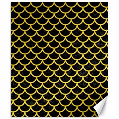 Scales1 Black Marble & Yellow Colored Pencil (r) Canvas 8  X 10