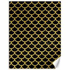 Scales1 Black Marble & Yellow Colored Pencil (r) Canvas 18  X 24