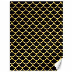 Scales1 Black Marble & Yellow Colored Pencil (r) Canvas 36  X 48