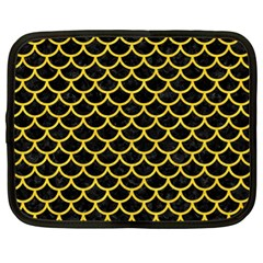 Scales1 Black Marble & Yellow Colored Pencil (r) Netbook Case (xl)