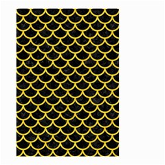 Scales1 Black Marble & Yellow Colored Pencil (r) Small Garden Flag (two Sides)