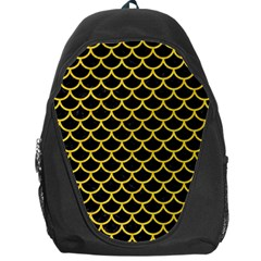 Scales1 Black Marble & Yellow Colored Pencil (r) Backpack Bag
