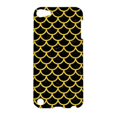 Scales1 Black Marble & Yellow Colored Pencil (r) Apple Ipod Touch 5 Hardshell Case