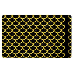 Scales1 Black Marble & Yellow Colored Pencil (r) Apple Ipad 3/4 Flip Case