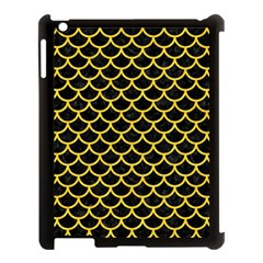 Scales1 Black Marble & Yellow Colored Pencil (r) Apple Ipad 3/4 Case (black)