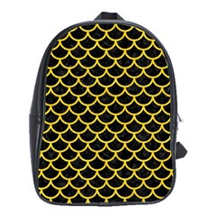 Scales1 Black Marble & Yellow Colored Pencil (r) School Bag (xl)