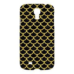 Scales1 Black Marble & Yellow Colored Pencil (r) Samsung Galaxy S4 I9500/i9505 Hardshell Case