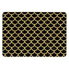 Scales1 Black Marble & Yellow Colored Pencil (r) Samsung Galaxy Tab 8 9  P7300 Flip Case