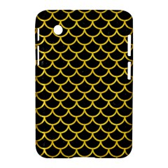 Scales1 Black Marble & Yellow Colored Pencil (r) Samsung Galaxy Tab 2 (7 ) P3100 Hardshell Case
