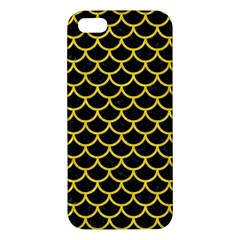 Scales1 Black Marble & Yellow Colored Pencil (r) Iphone 5s/ Se Premium Hardshell Case
