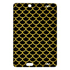 Scales1 Black Marble & Yellow Colored Pencil (r) Amazon Kindle Fire Hd (2013) Hardshell Case