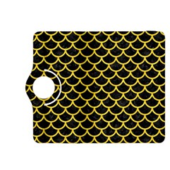 Scales1 Black Marble & Yellow Colored Pencil (r) Kindle Fire Hdx 8 9  Flip 360 Case