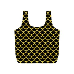 Scales1 Black Marble & Yellow Colored Pencil (r) Full Print Recycle Bags (s)