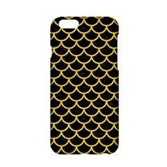 Scales1 Black Marble & Yellow Colored Pencil (r) Apple Iphone 6/6s Hardshell Case