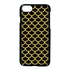 Scales1 Black Marble & Yellow Colored Pencil (r) Apple Iphone 8 Seamless Case (black)