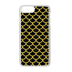Scales1 Black Marble & Yellow Colored Pencil (r) Apple Iphone 8 Plus Seamless Case (white)