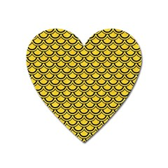 Scales2 Black Marble & Yellow Colored Pencil Heart Magnet