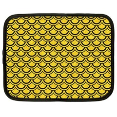 Scales2 Black Marble & Yellow Colored Pencil Netbook Case (large)