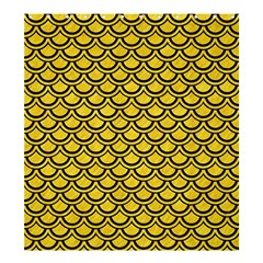 Scales2 Black Marble & Yellow Colored Pencil Shower Curtain 66  X 72  (large)