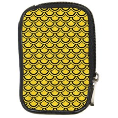 Scales2 Black Marble & Yellow Colored Pencil Compact Camera Cases