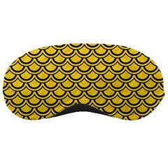 Scales2 Black Marble & Yellow Colored Pencil Sleeping Masks