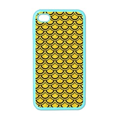 Scales2 Black Marble & Yellow Colored Pencil Apple Iphone 4 Case (color)