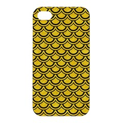 Scales2 Black Marble & Yellow Colored Pencil Apple Iphone 4/4s Hardshell Case