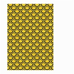 Scales2 Black Marble & Yellow Colored Pencil Small Garden Flag (two Sides)