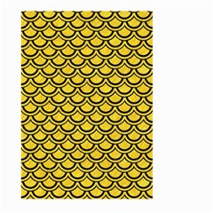 Scales2 Black Marble & Yellow Colored Pencil Large Garden Flag (two Sides)