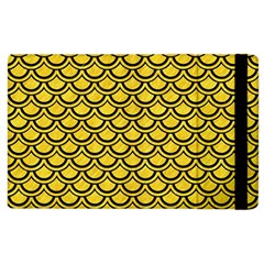 Scales2 Black Marble & Yellow Colored Pencil Apple Ipad 2 Flip Case