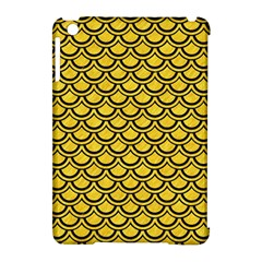 Scales2 Black Marble & Yellow Colored Pencil Apple Ipad Mini Hardshell Case (compatible With Smart Cover)