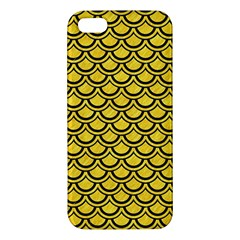 Scales2 Black Marble & Yellow Colored Pencil Apple Iphone 5 Premium Hardshell Case