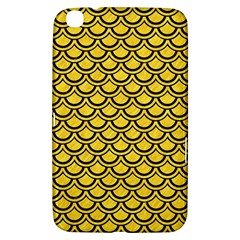 Scales2 Black Marble & Yellow Colored Pencil Samsung Galaxy Tab 3 (8 ) T3100 Hardshell Case