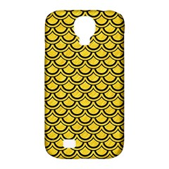 Scales2 Black Marble & Yellow Colored Pencil Samsung Galaxy S4 Classic Hardshell Case (pc+silicone)