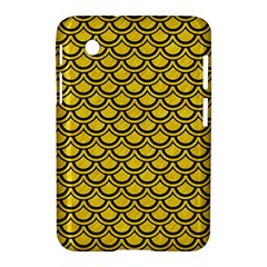 Scales2 Black Marble & Yellow Colored Pencil Samsung Galaxy Tab 2 (7 ) P3100 Hardshell Case