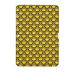 Scales2 Black Marble & Yellow Colored Pencil Samsung Galaxy Tab 2 (10 1 ) P5100 Hardshell Case