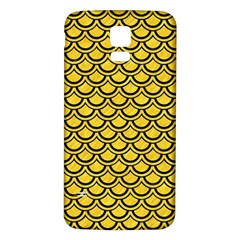 Scales2 Black Marble & Yellow Colored Pencil Samsung Galaxy S5 Back Case (white)