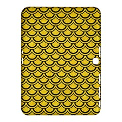 Scales2 Black Marble & Yellow Colored Pencil Samsung Galaxy Tab 4 (10 1 ) Hardshell Case