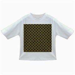 Scales2 Black Marble & Yellow Colored Pencil (r) Infant/toddler T Shirts