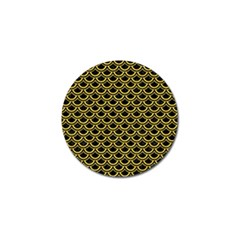 Scales2 Black Marble & Yellow Colored Pencil (r) Golf Ball Marker