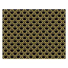 Scales2 Black Marble & Yellow Colored Pencil (r) Rectangular Jigsaw Puzzl