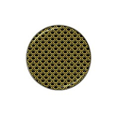 Scales2 Black Marble & Yellow Colored Pencil (r) Hat Clip Ball Marker (10 Pack)
