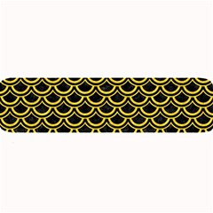 Scales2 Black Marble & Yellow Colored Pencil (r) Large Bar Mats