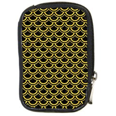 Scales2 Black Marble & Yellow Colored Pencil (r) Compact Camera Cases