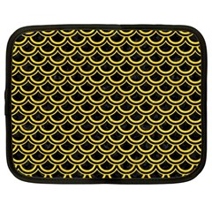 Scales2 Black Marble & Yellow Colored Pencil (r) Netbook Case (xxl)