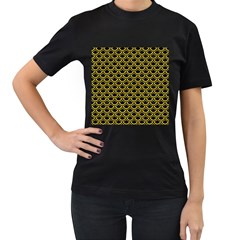 Scales2 Black Marble & Yellow Colored Pencil (r) Women s T Shirt (black)
